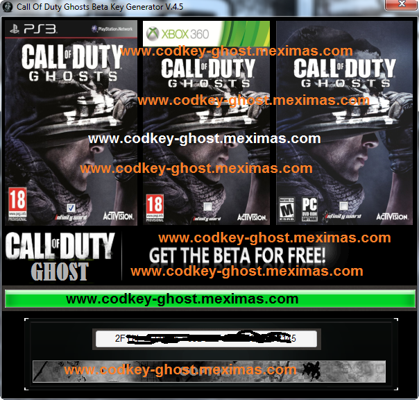 Call of Duty Ghosts Key Generator Download-No Survey COD