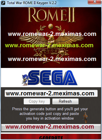 Total War ROME II Keygen Steam Code Generator 2013 for Free Download