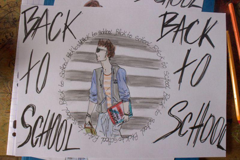 dernier dessin de la collection Back to school! pour changer j'ai fais un garçon !! et oui sa  m'arrive parfois !! :p bonne rentrée a tous, moi j'y vais en traînant les pied ! j'etais bien en vacances !! :p