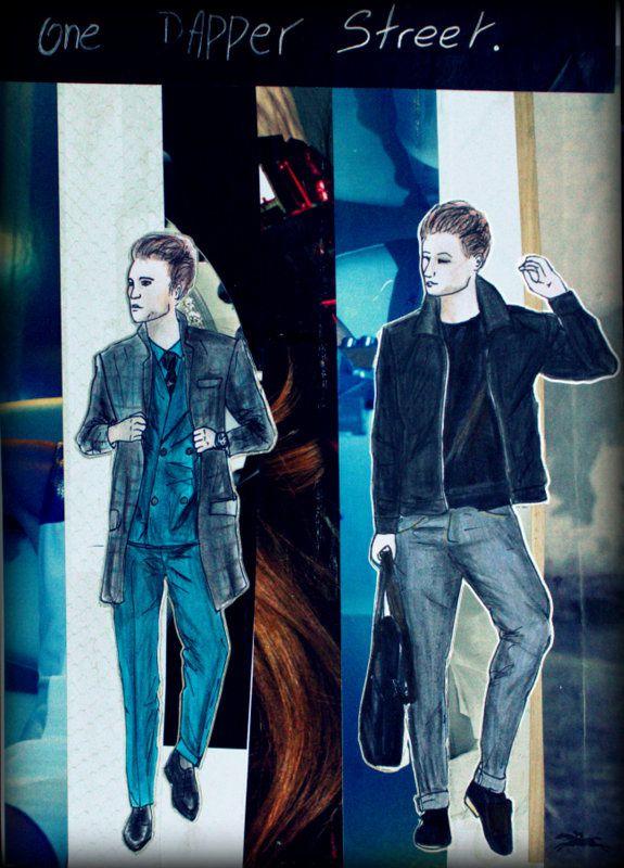 les personnages sont des bloggeurs ou bien des mannequins pour des magasins de vêtements: one dapper street, ou bien pour le magaisn black milk