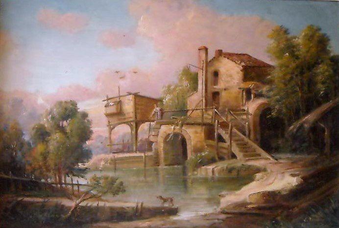 Le moulin de quiquengrogne à Charenton ,  Huile sur toile, collection particulière .