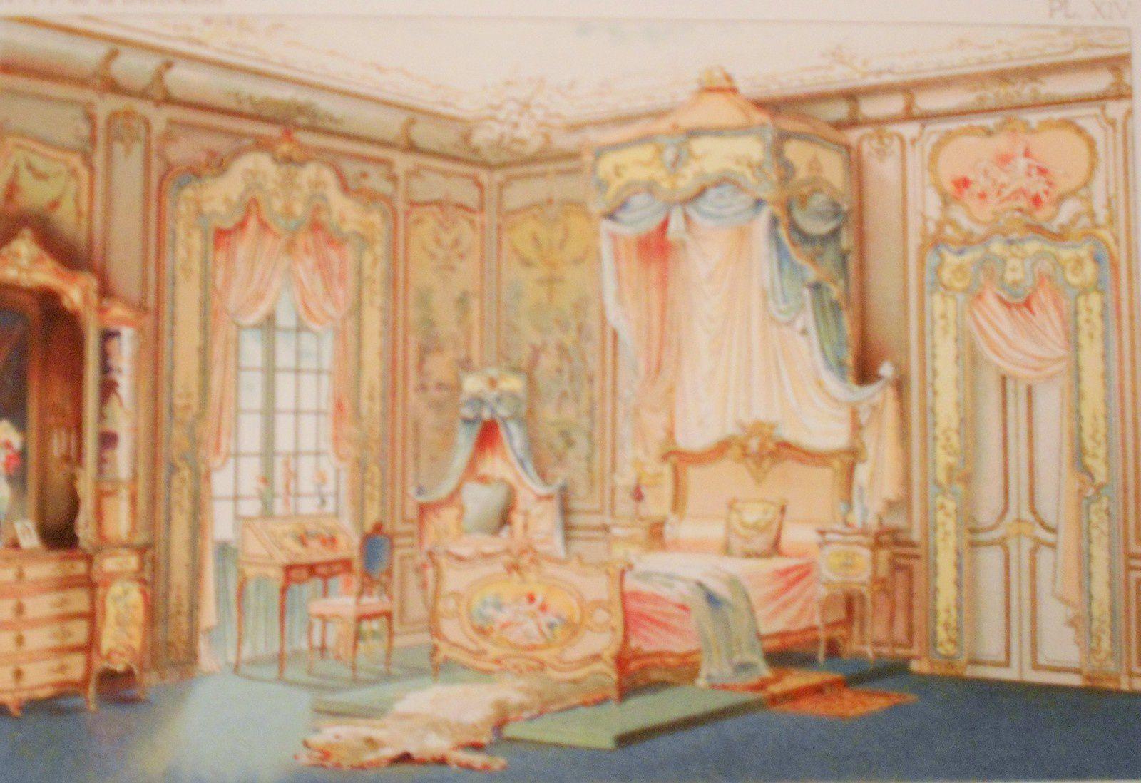 Chambre à coucher Louis XV