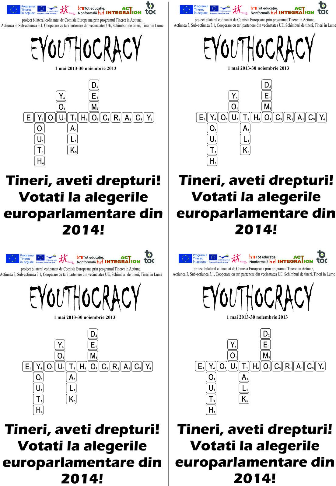 Eyouthocracy project- October-November 2013-Dissemination and exploitation of results