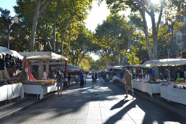 Cours Mirabeau, un des endroits les plus fréquentés de la ville