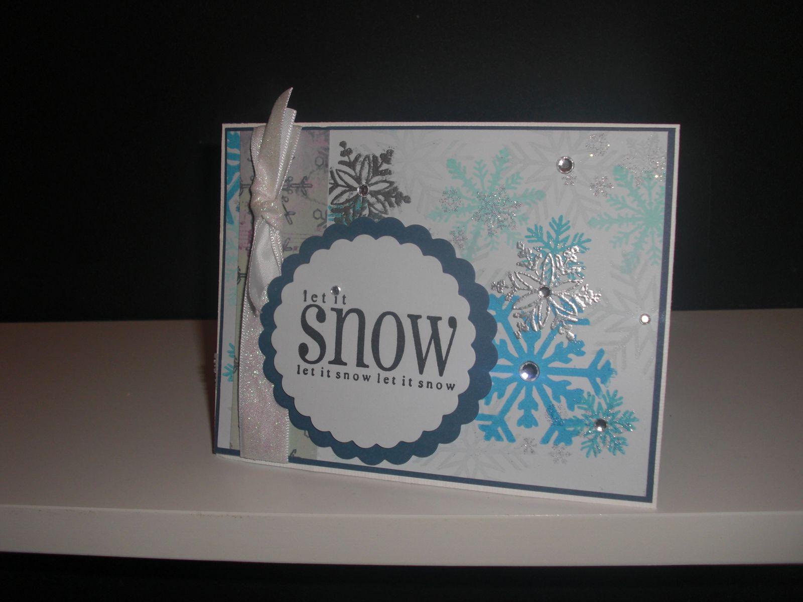 Série Noël Carte #1: &quot&#x3B;Flocons&quot&#x3B;
