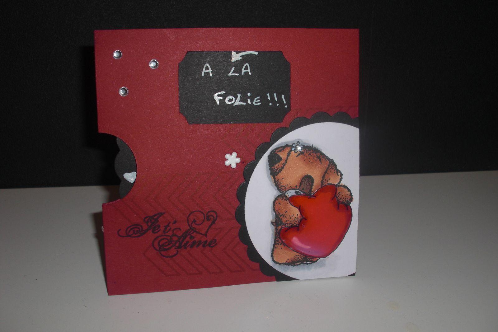 Série St Valentin 2014 carte #4 &quot&#x3B;Je t'aime un peu, beaucoup...&quot&#x3B;