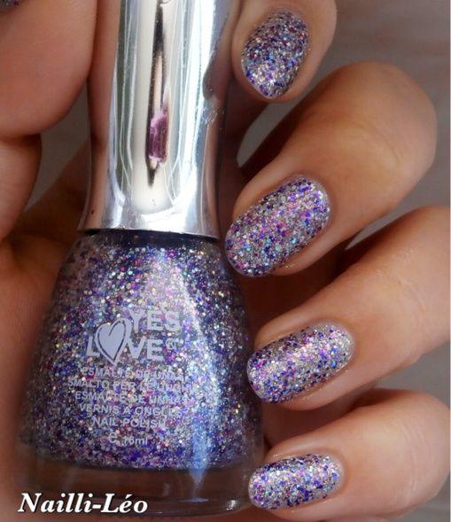 YesLove Pailleté Violet/Vert 6198