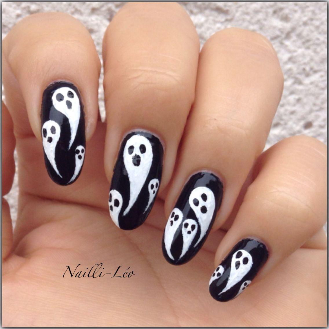 Nail Art Halloween - Casper