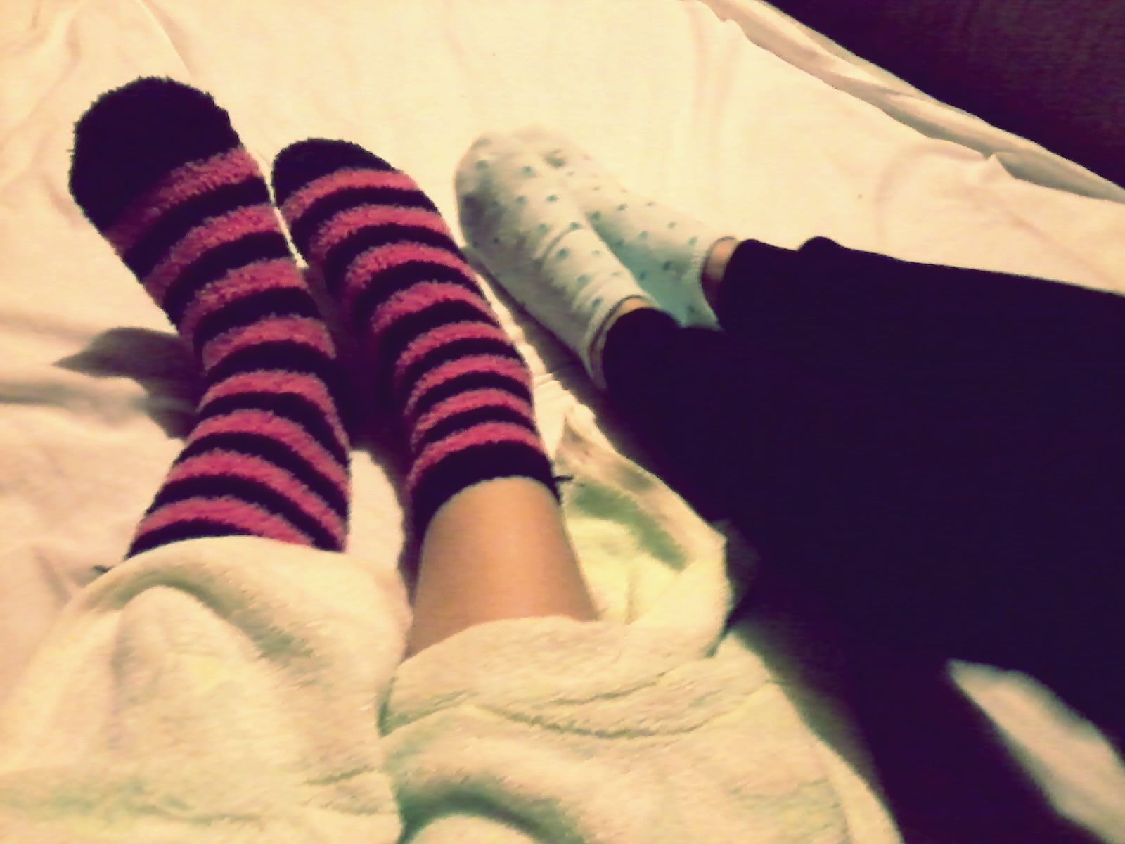 Socks keep us warm