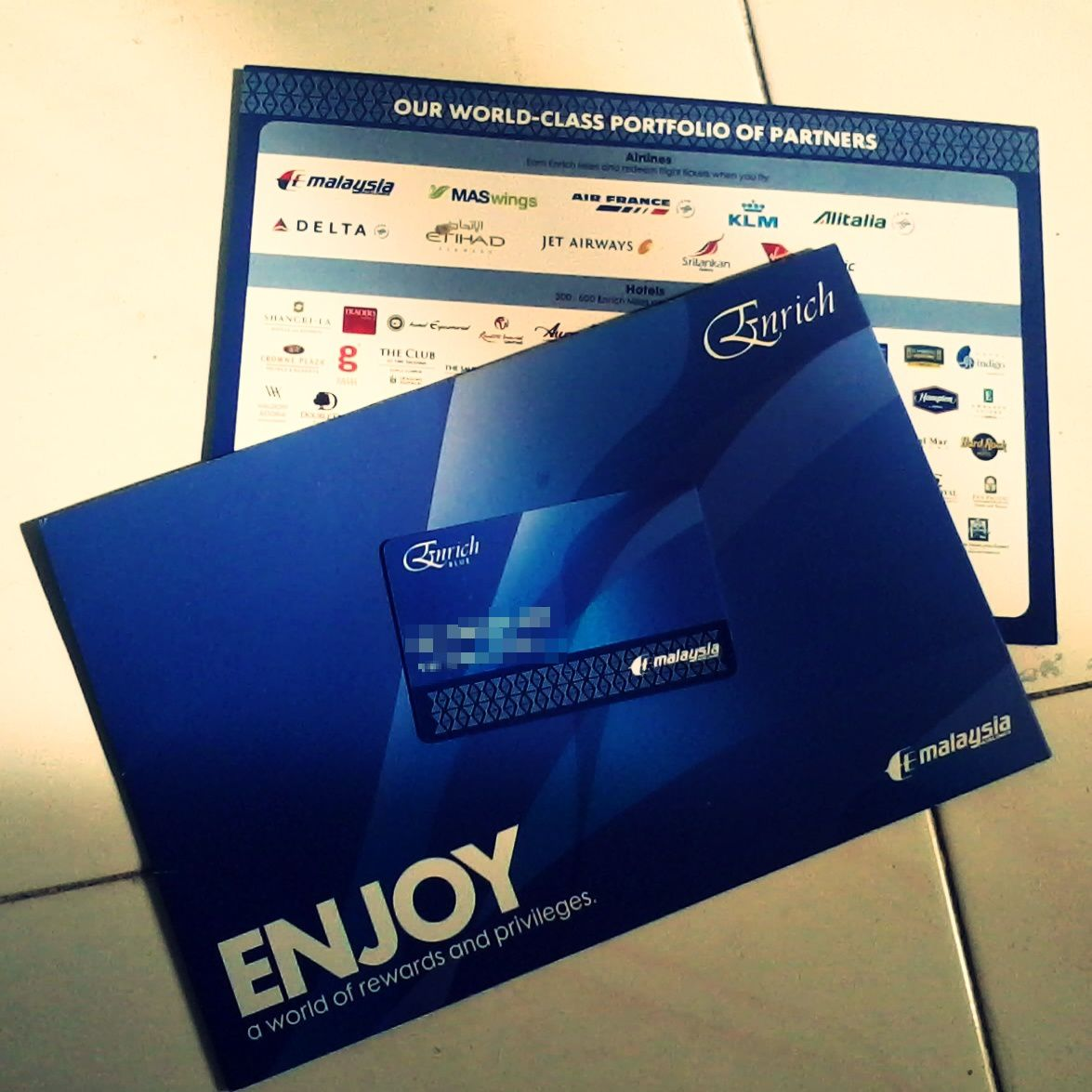 MAS Enrich Blue welcome pack