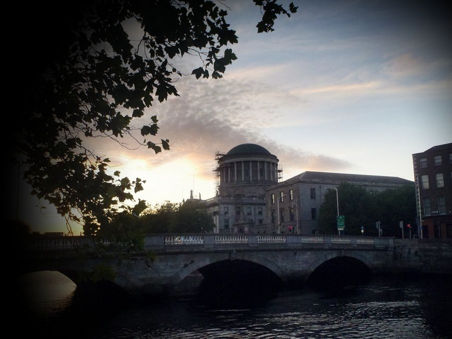 Sunset behind Four Courts