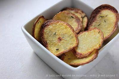 Chips de pommes de terre au four kakinou light - Chips fait maison au four ...