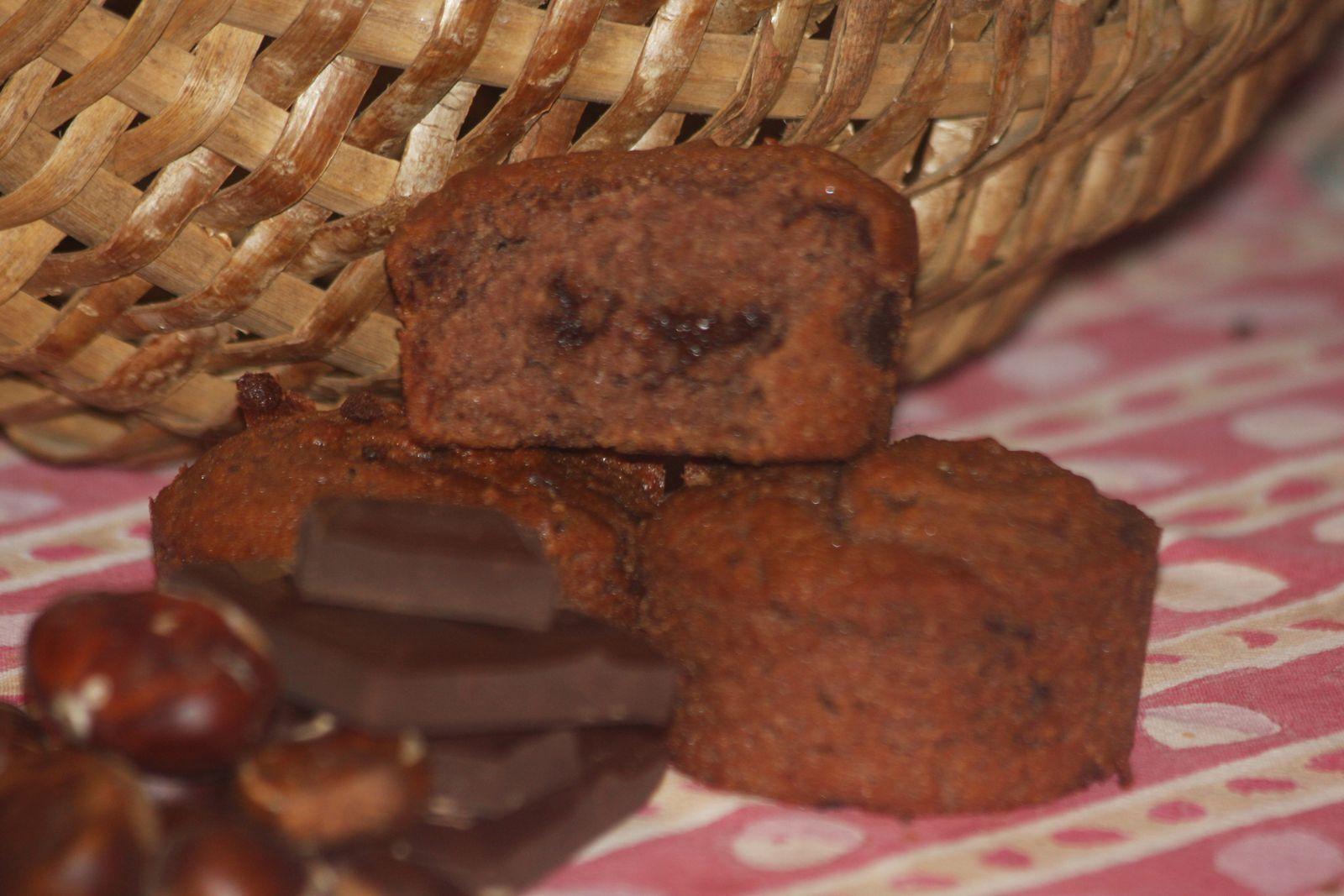 Muffins au marron et chocolat