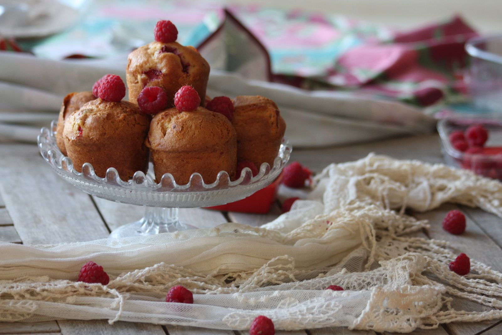 Muffins fraises et framboises