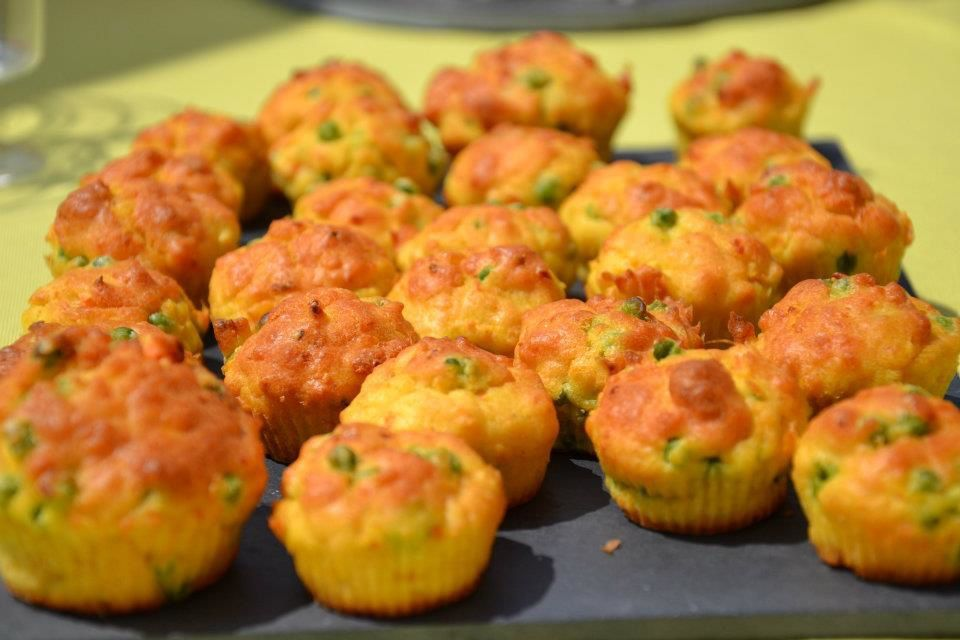 Muffins petits pois - curry