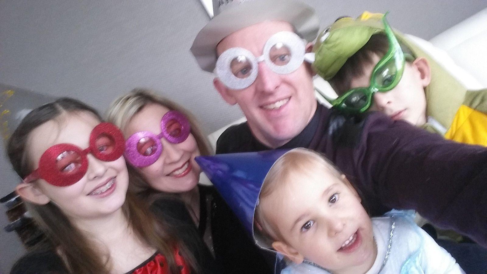 Selfie familial du jour de l'an..
