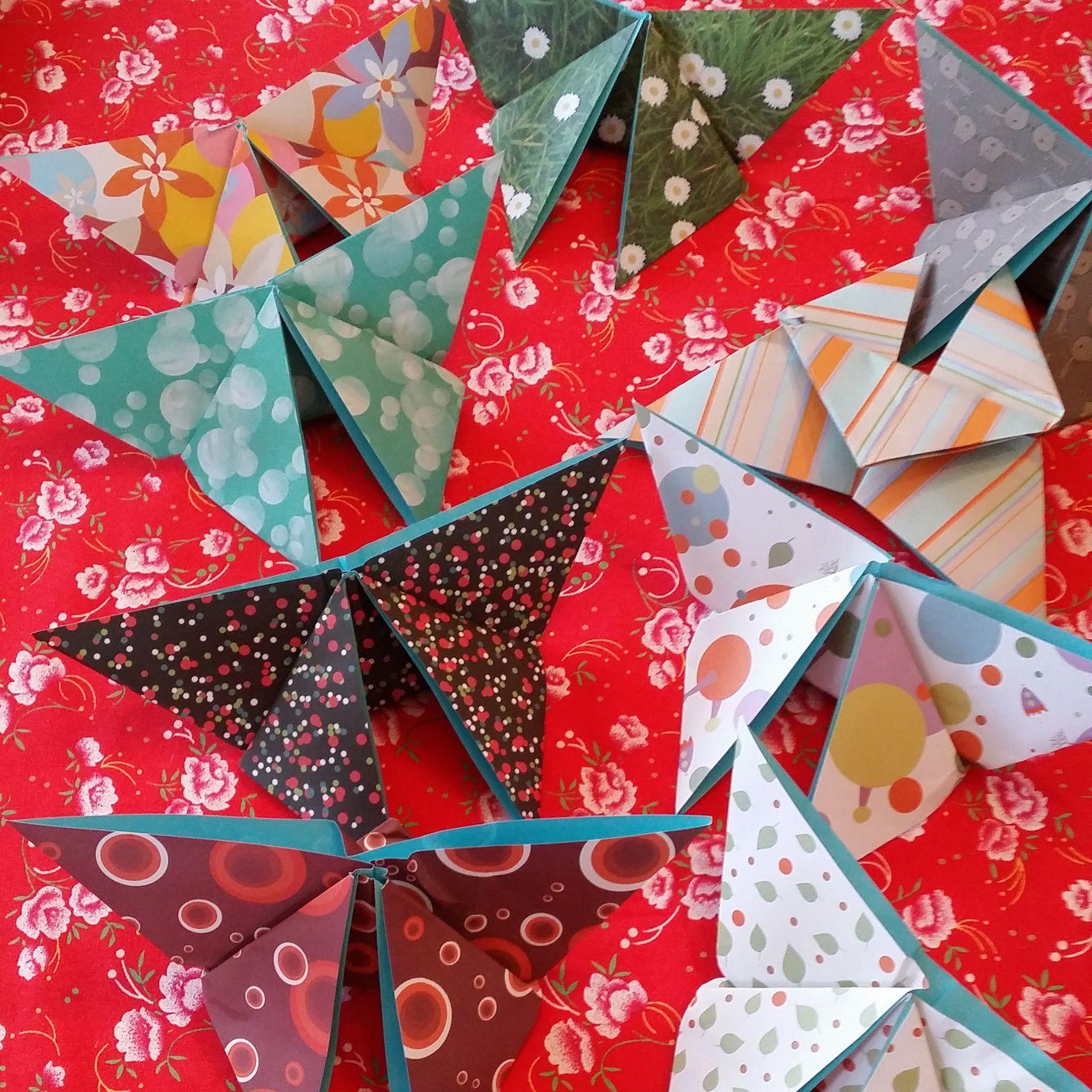 Papillons en origami...