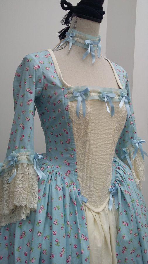 Robe dame de la cour &quot&#x3B;Bleuets&quot&#x3B;