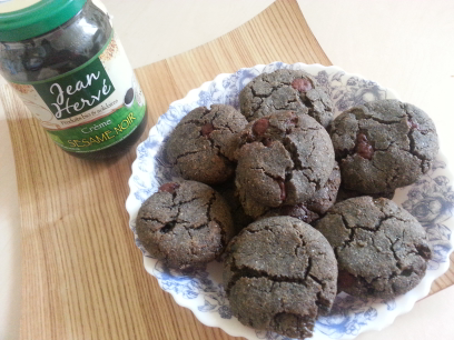 Cookies au tahin noir