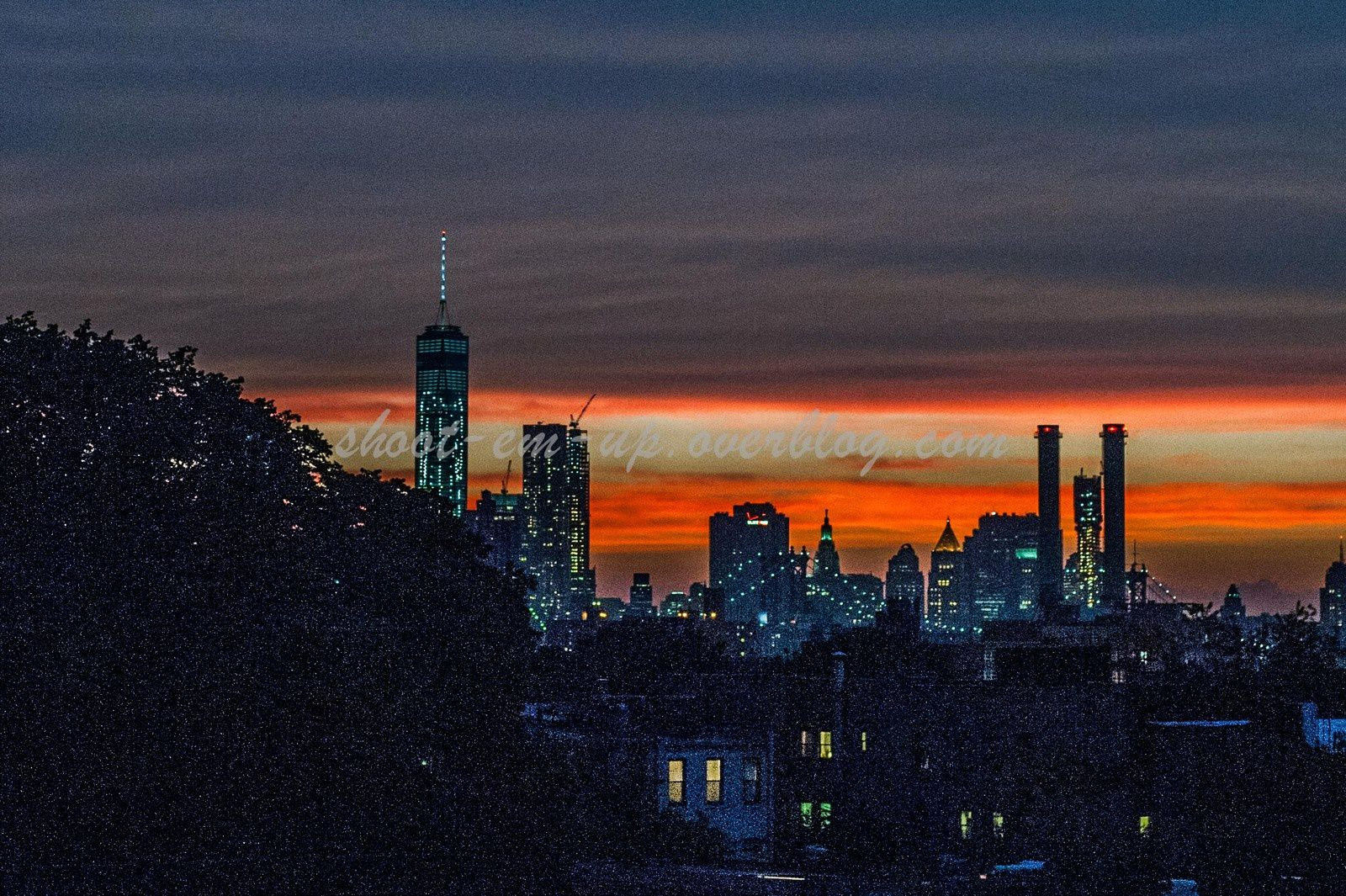 Last Night ... : Sunset on Manhattan from Brooklyn Roof