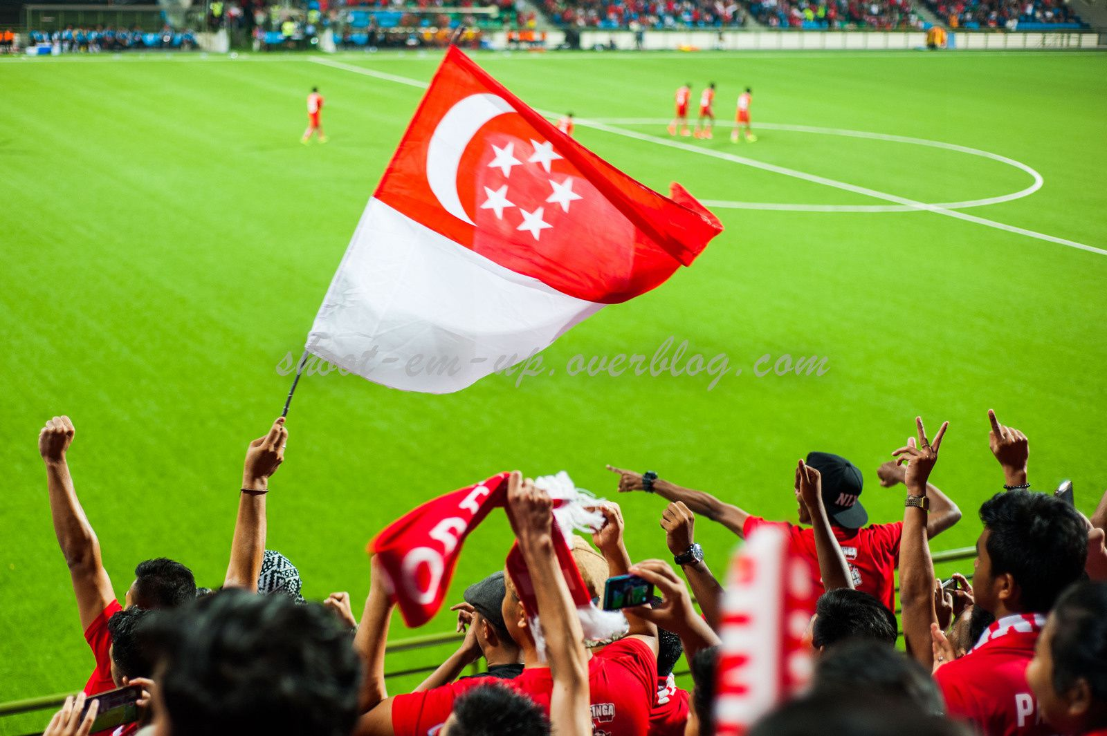 Singapore Lions fans during a match of championship