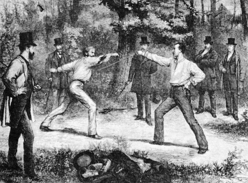 La pratique du duel en France