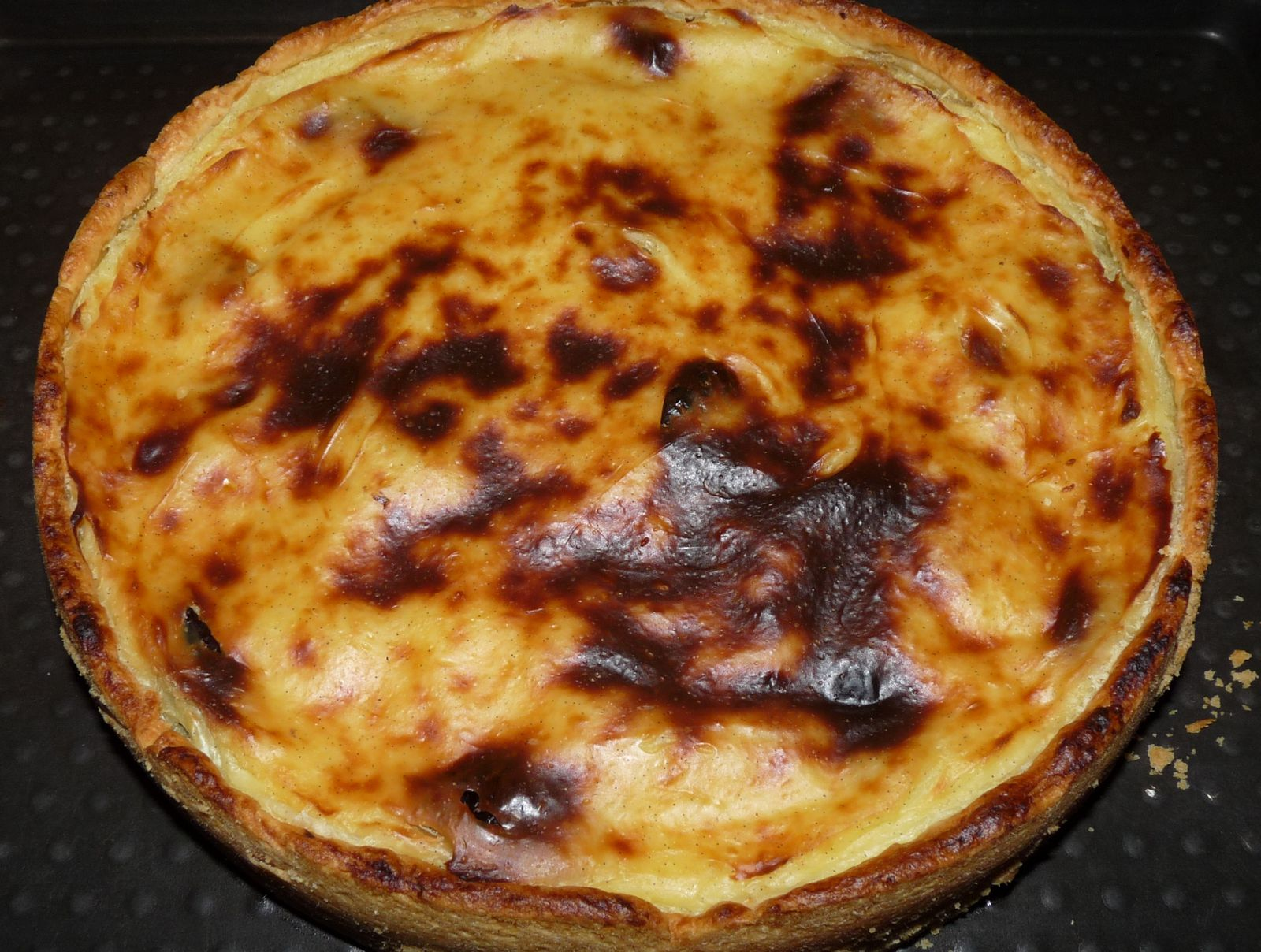 Flan p tissier aux pruneaux cookingrid - Recette flan patissier maison ...