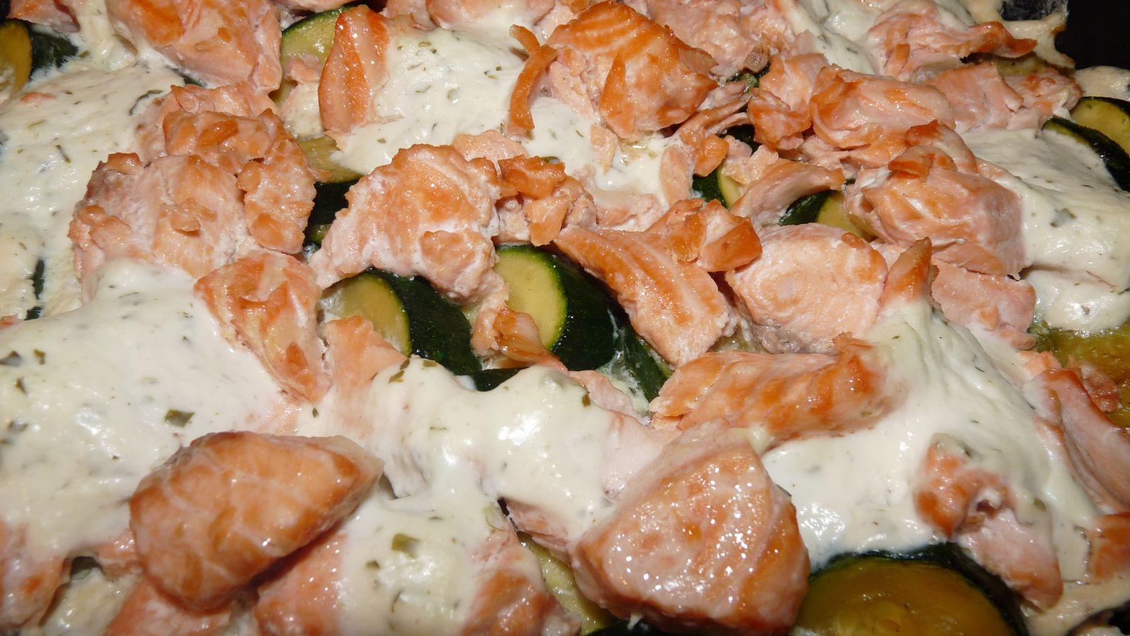 Gratin courgettes saumon au boursin