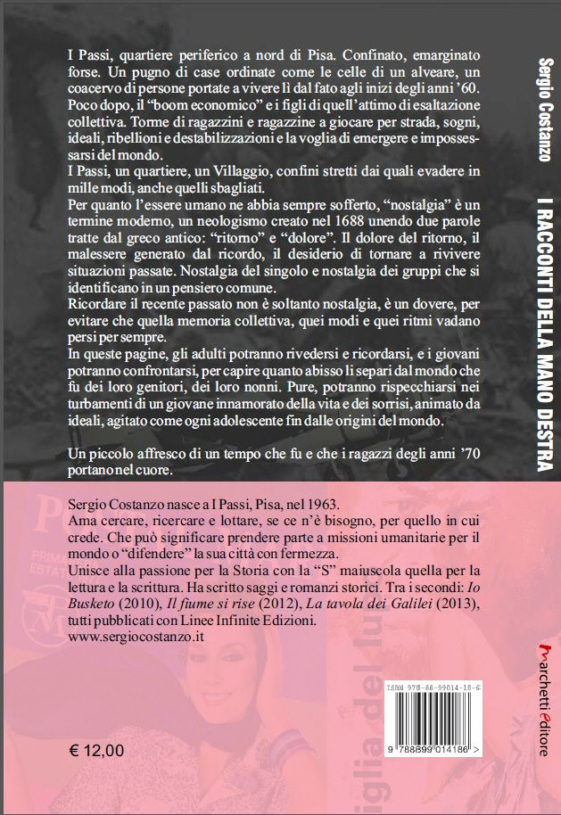In uscita &quot&#x3B;I racconti della mano destra&quot&#x3B; di Sergio Costanzo