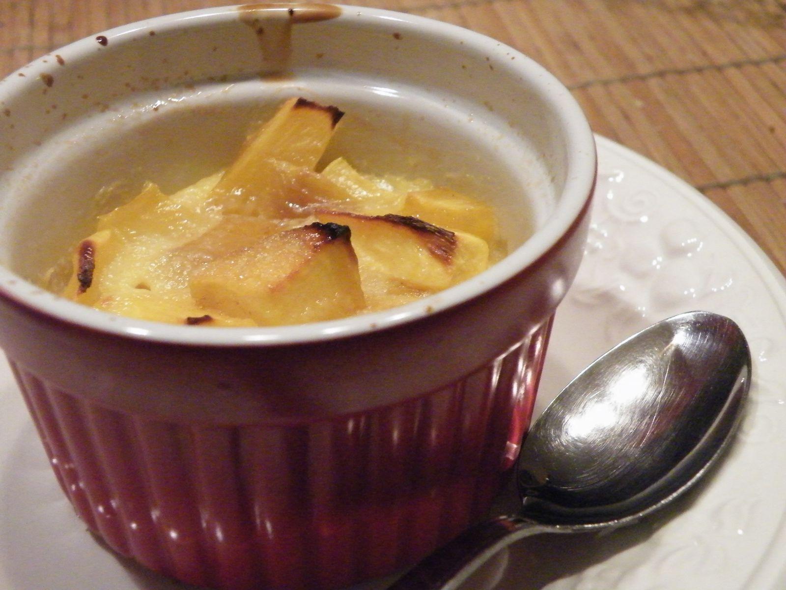 Voilà un délicieux dessert parfumé qui se déguste tiède ou froid.... Bon appetit et à bientot!!!