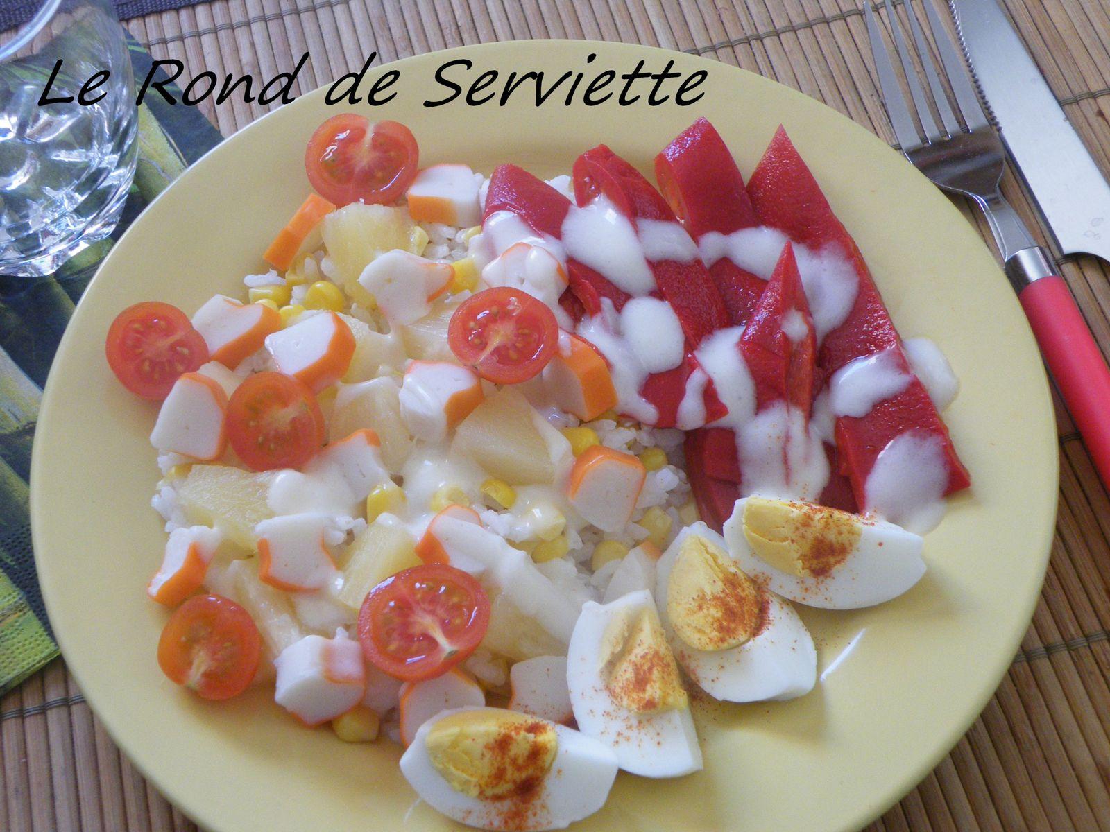 Salade de riz printanière