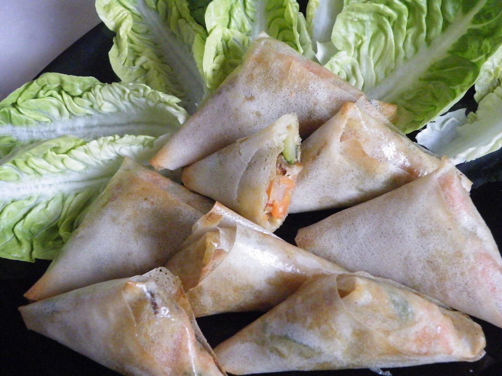 Samoussas de légumes au 4 épices