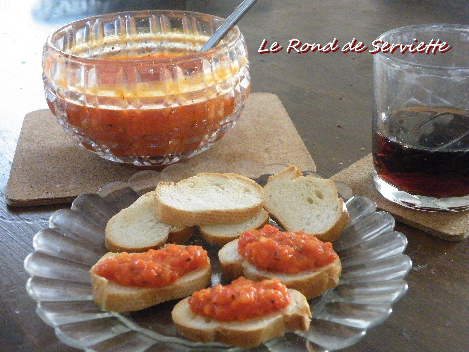 Tartinade de poivrons rouges à l'origan