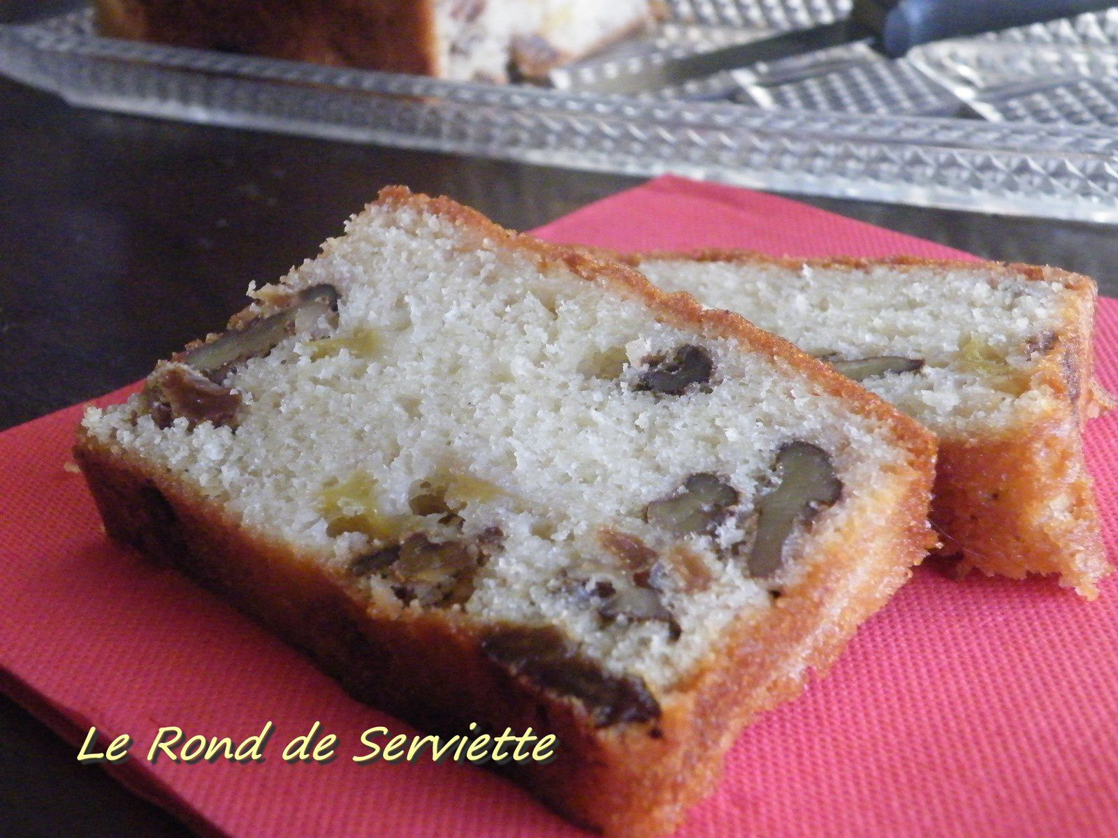 Cake pommes, noix &amp&#x3B; raisins secs