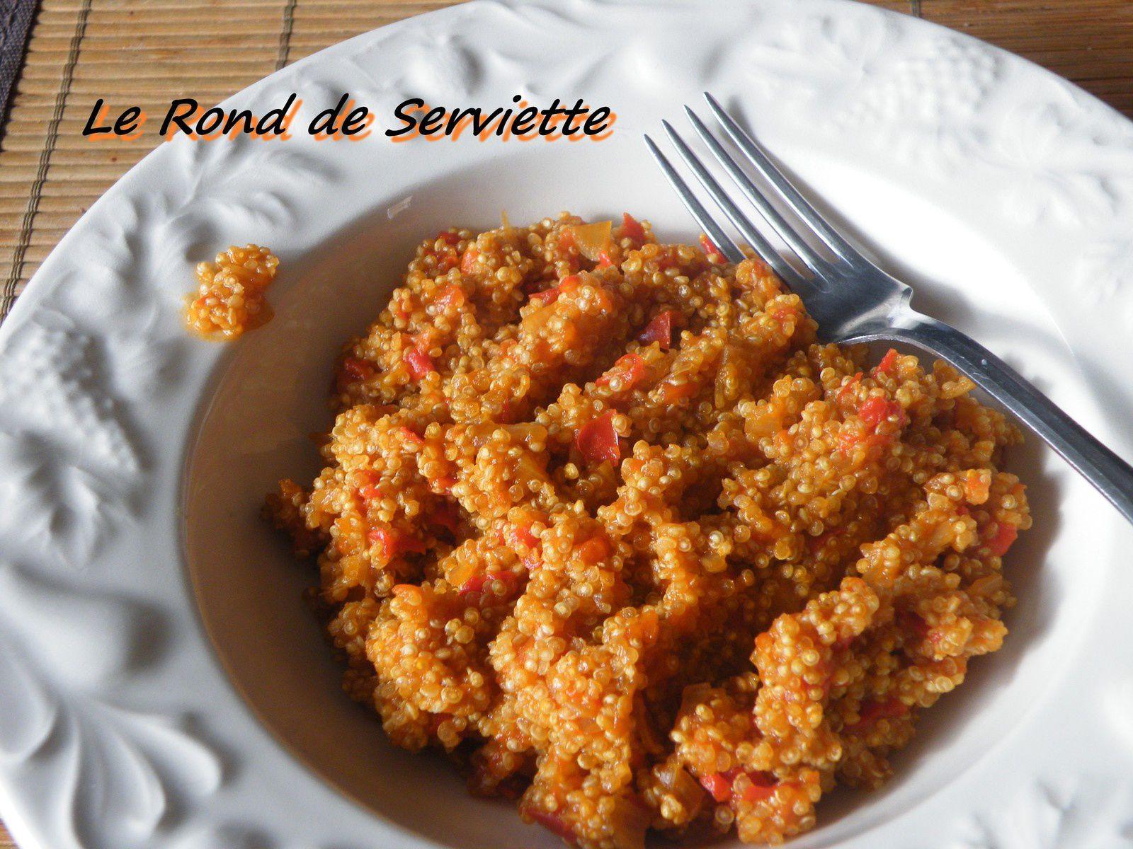 Risotto de quinoa au coulis de poivron rouge