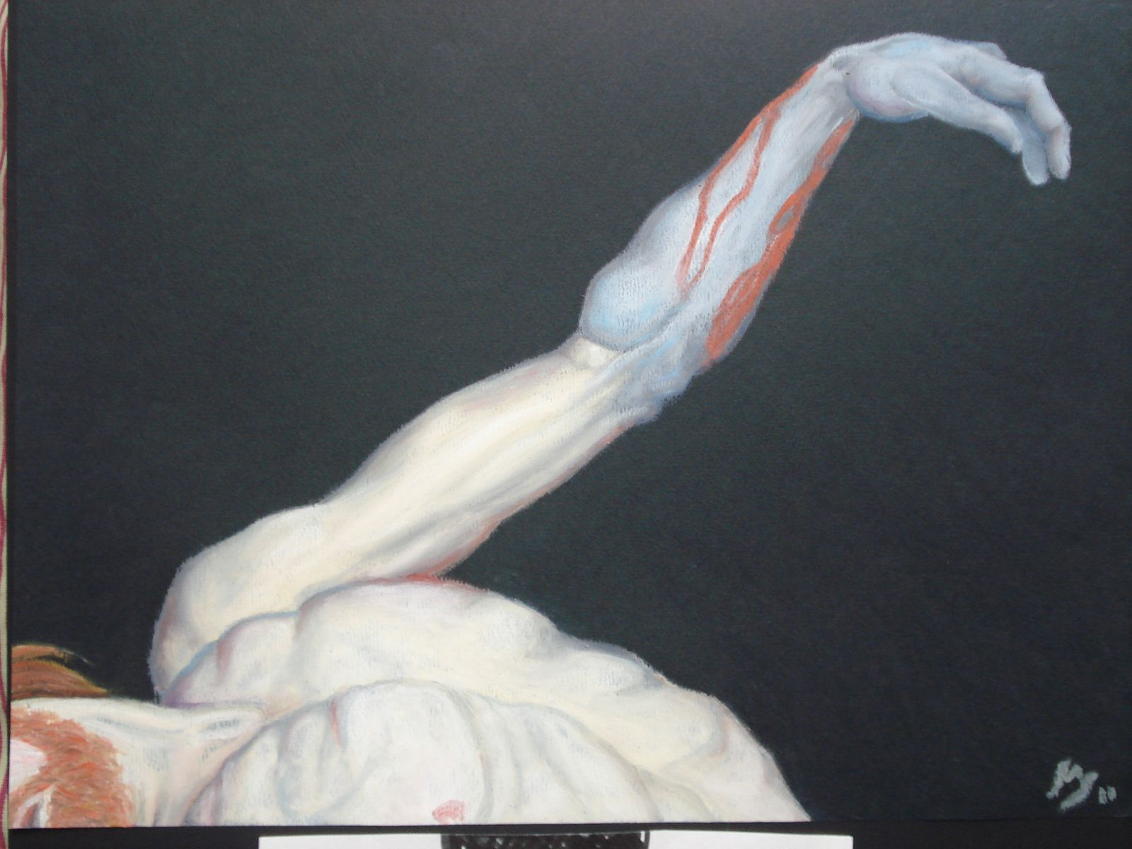 Pastel gras sur papier A4, 2011