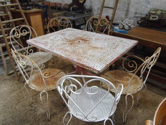 Beautiful Table Jardin Ancienne Fer Forge Contemporary - House ...