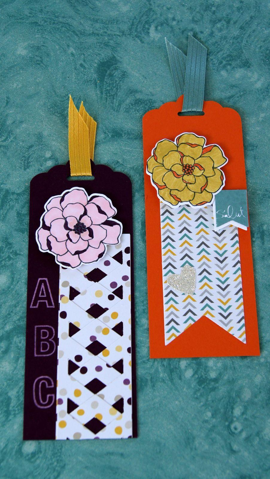 """papier et rubans """"incolor 2014/2016 et pile de papiers """"désert lunaire"""", tampon """"sea street"""""""