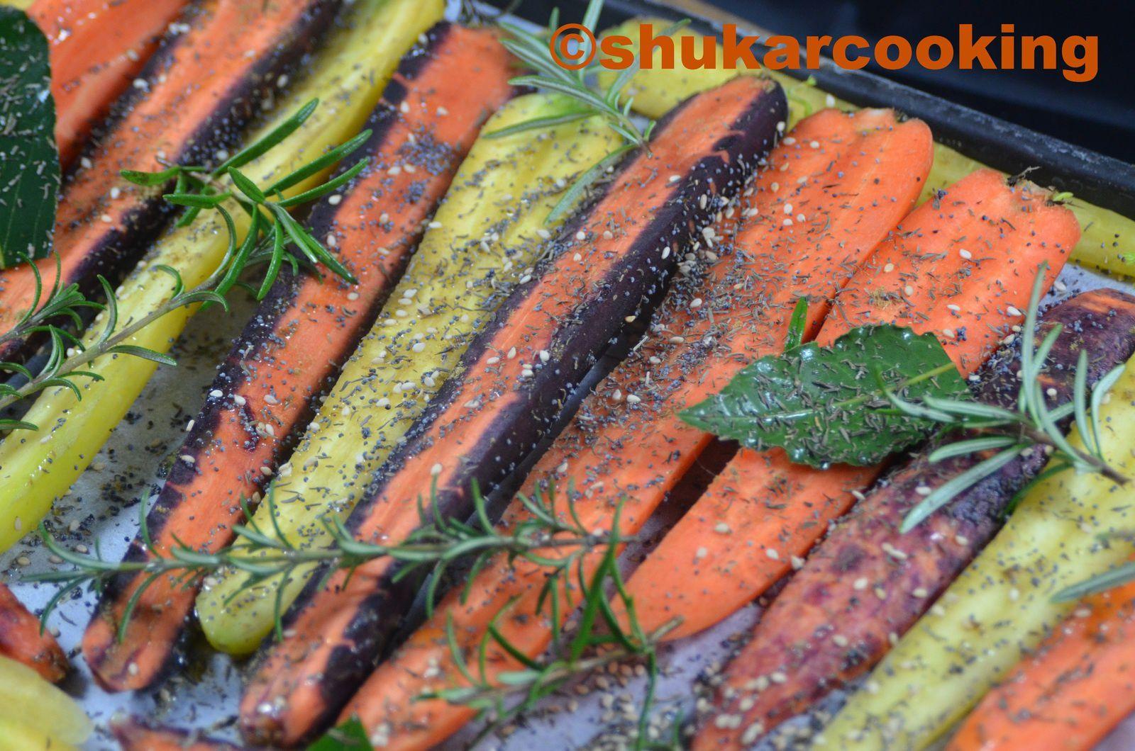 carottes et pommes de terre r tis au s same shukar cooking. Black Bedroom Furniture Sets. Home Design Ideas
