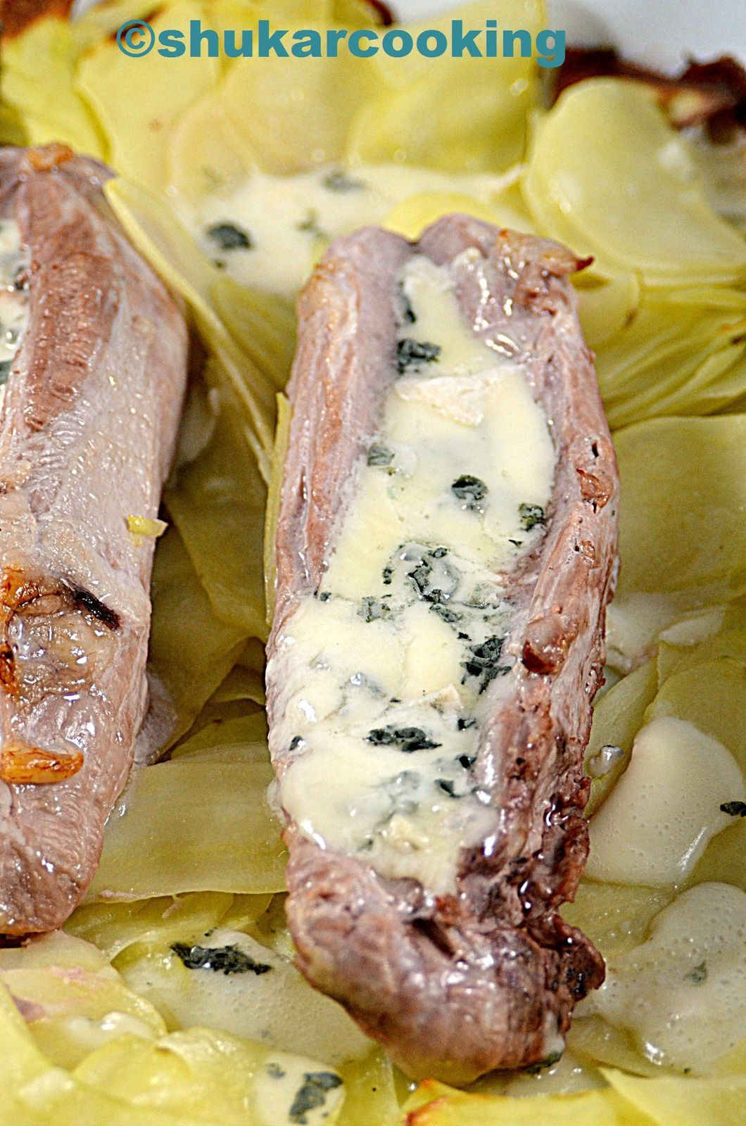 Filet mignon au roquefort shukar cooking - Filet mignon au roquefort ...