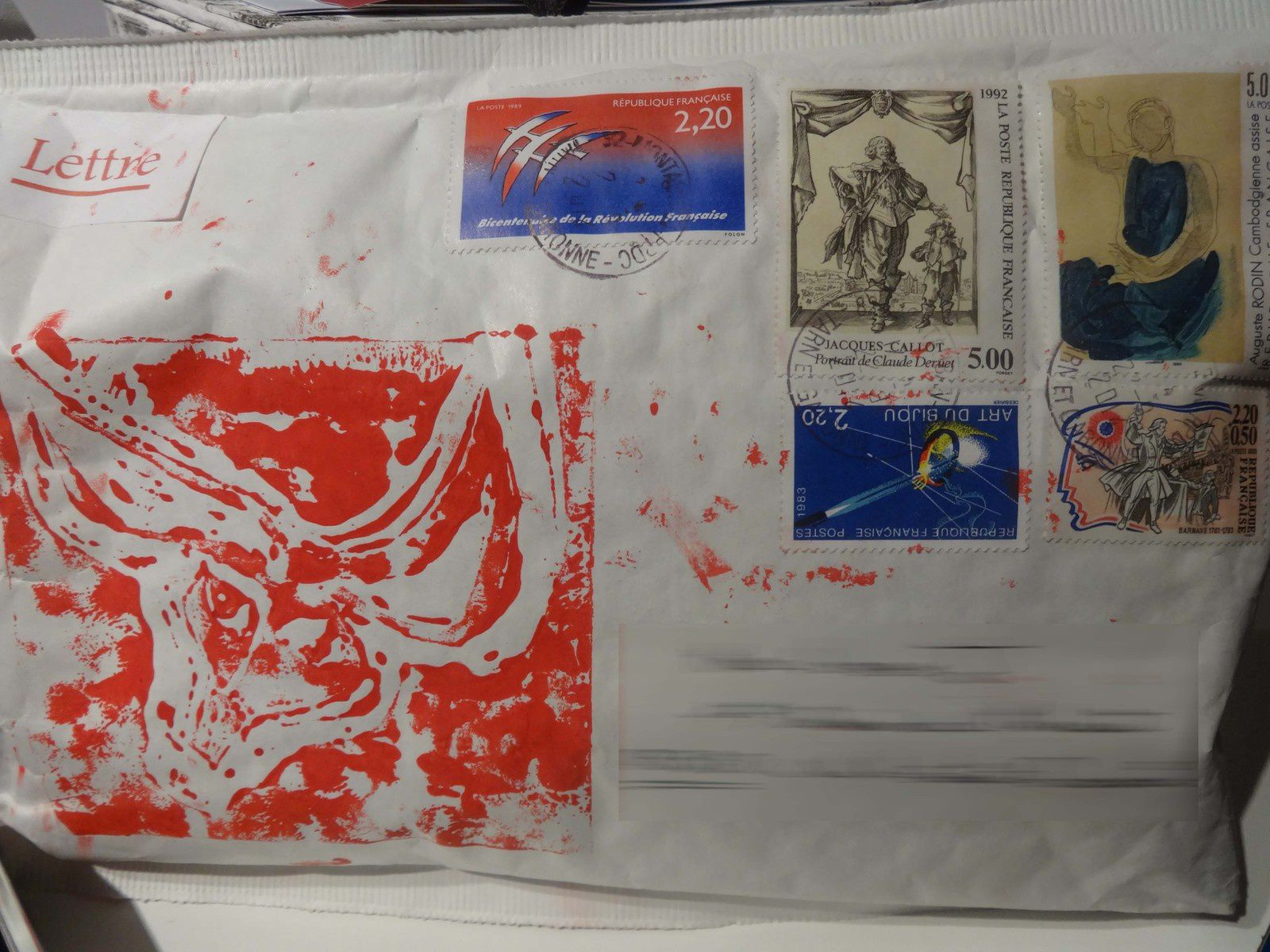 Mail art, tampon