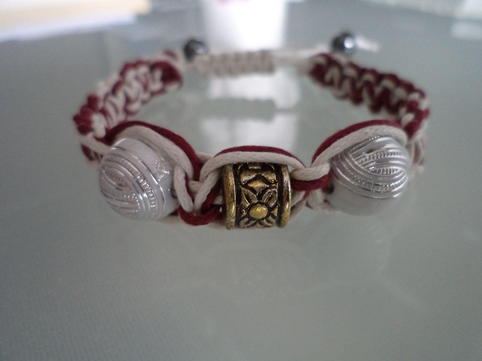 bracelet bicolore macrame