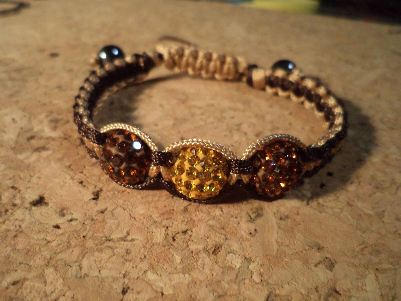 bracelet topaze/chocolat