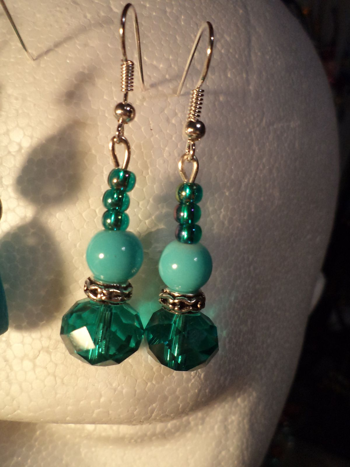 Boucles d'oreille TELL turquoise