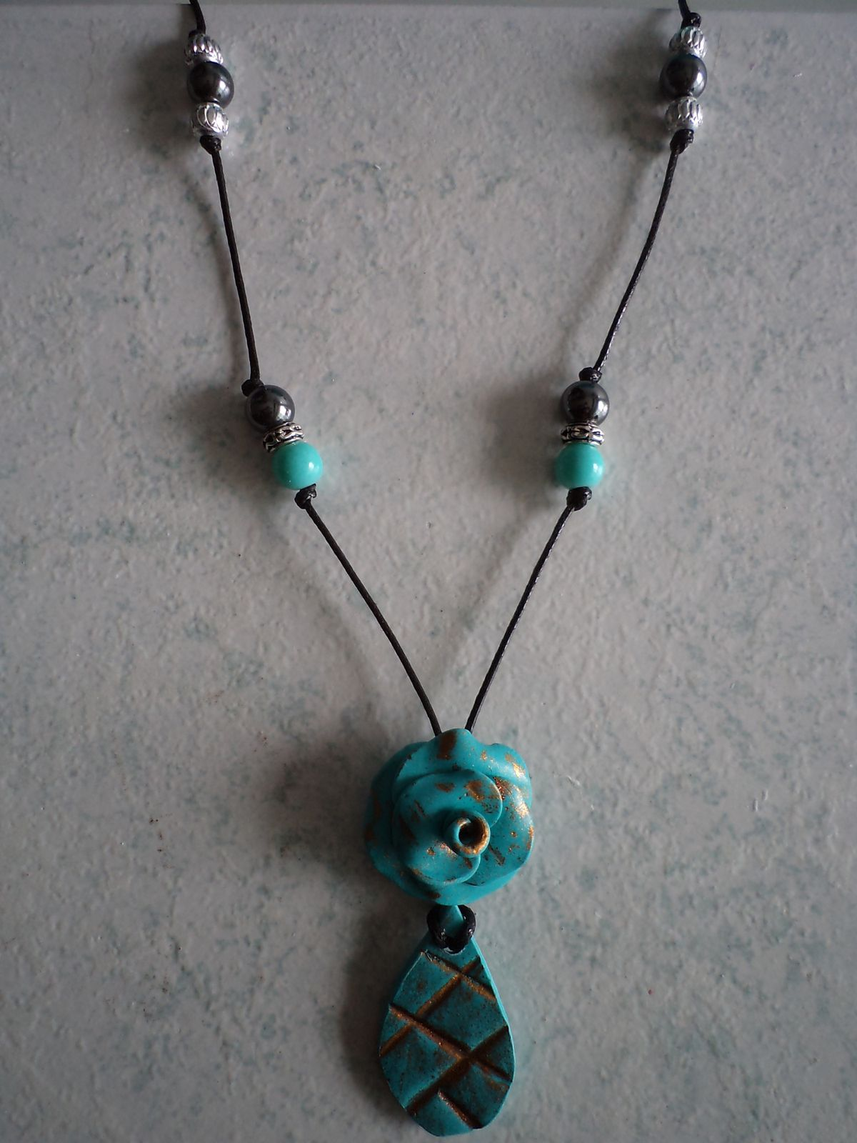 collier TELL TURQUOISE FLEUR
