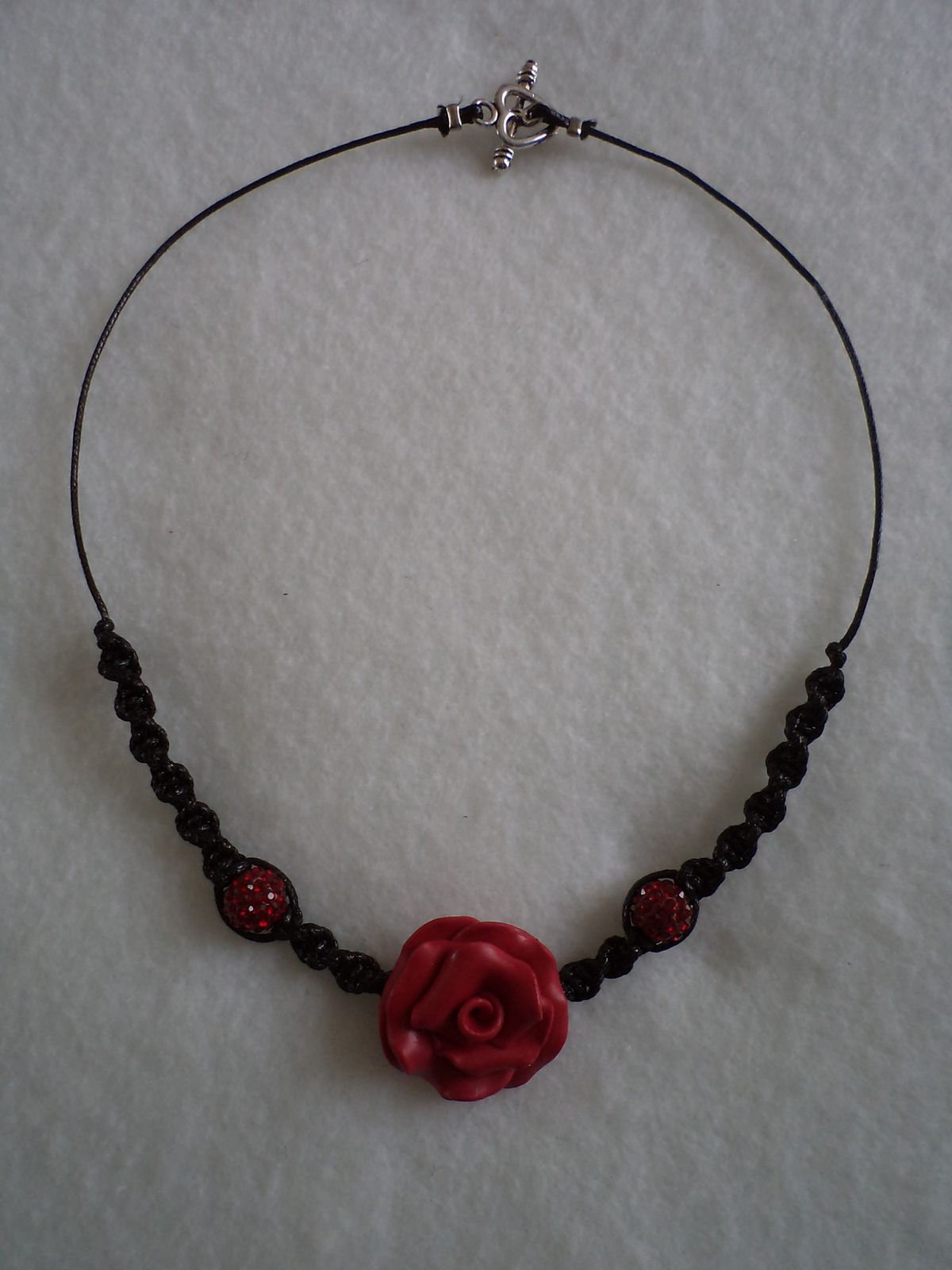 collier TELL strass rouge