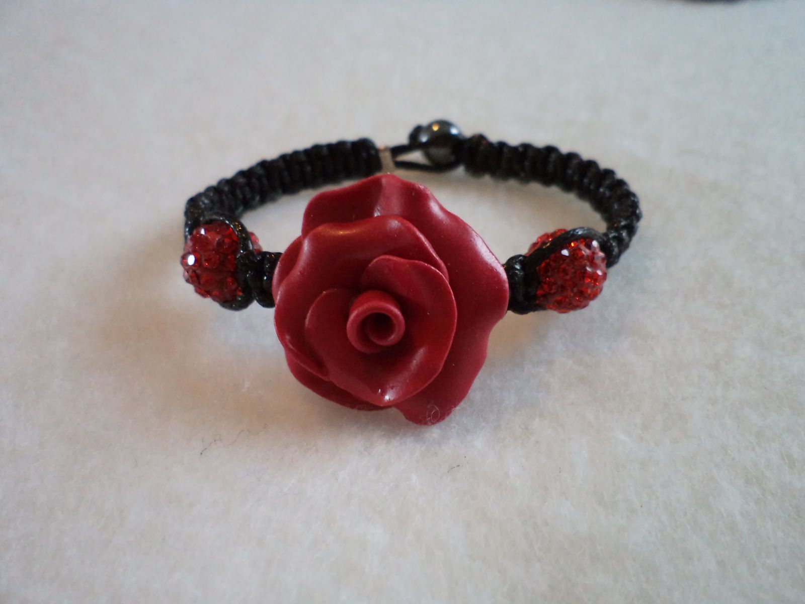bracelet TELL red and strass