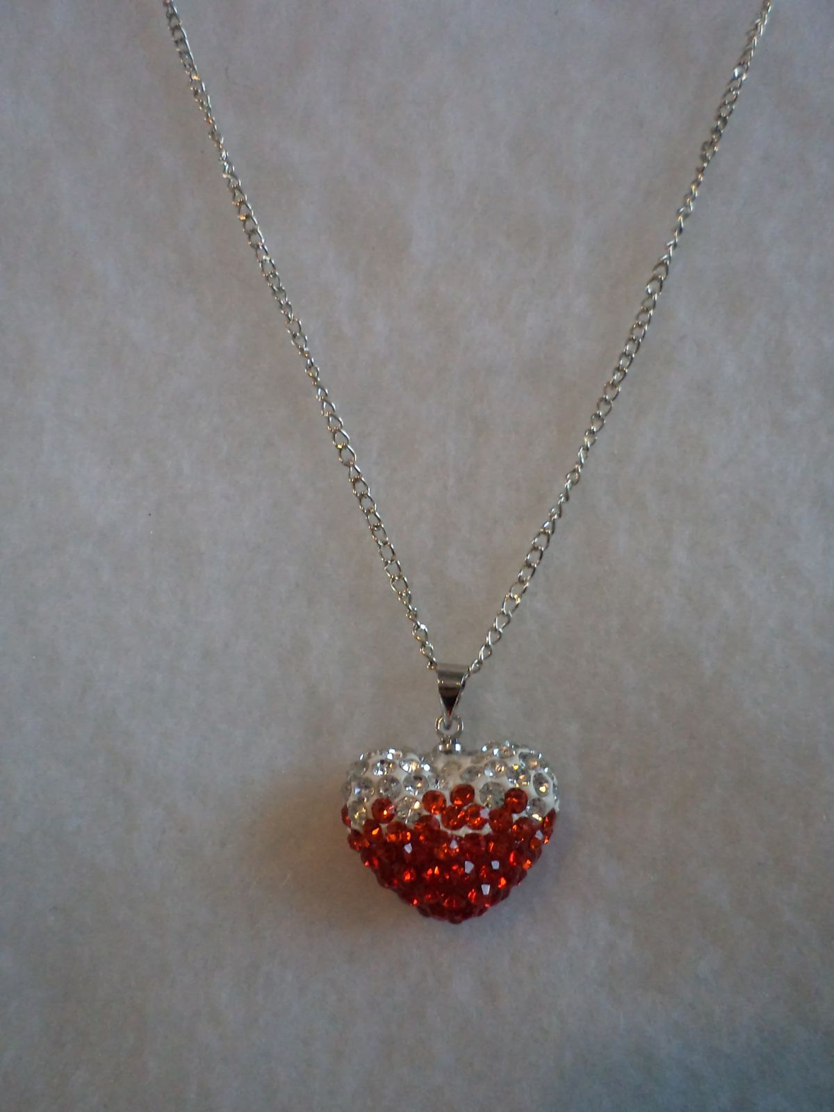 collier TELL coeur rouge strass