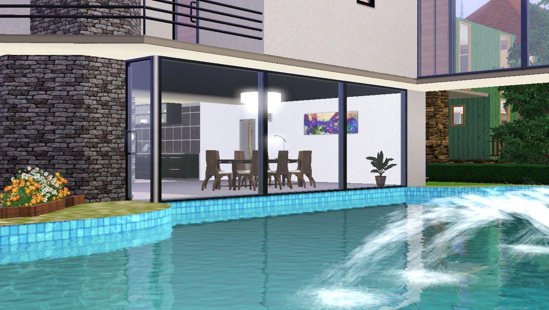 La moderne 3 maisons des sims 3 for Decoration maison sims 3