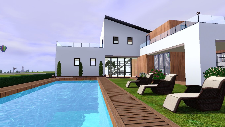 Villa moderne 5 maisons des sims 3 for Sims 3 salon moderne
